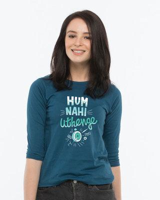 Shop Hum Nahi Uthenge Round Neck 3/4th Sleeve T-Shirt-Front