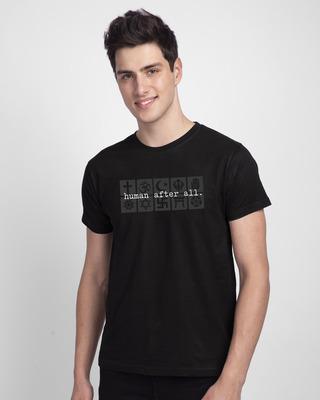 Shop Human After All Half Sleeve T-Shirt Black-Front