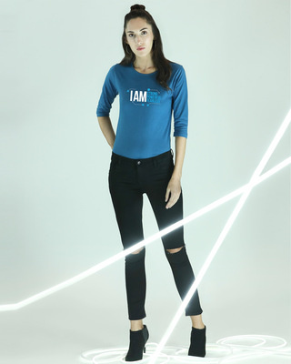 Shop I AM  3/4 Sleeves T-Shirt-Front