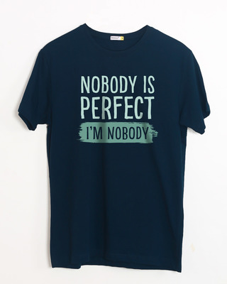 Shop I Am Nobody Half Sleeve T-Shirt-Front