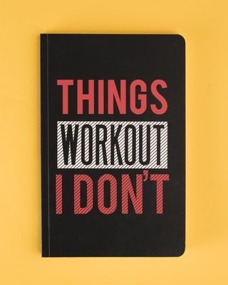 Shop I Don't Workout Notebook-Front
