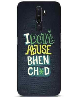 Shop I Dont Abuse Oppo A5 2020 Mobile Cover-Front