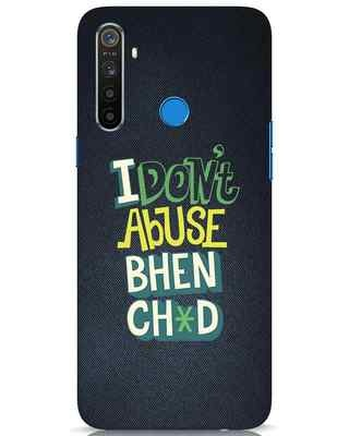 Shop I Dont Abuse Realme 5 Mobile Cover-Front