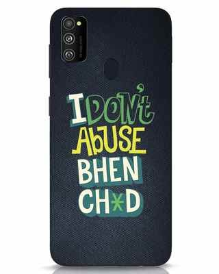 Shop I Dont Abuse Samsung Galaxy M30s Mobile Cover-Front