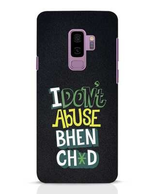 Shop I Dont Abuse Samsung Galaxy S9 Plus Mobile Cover-Front
