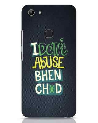 Shop I Dont Abuse Vivo Y81 Mobile Cover-Front