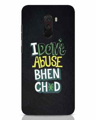Shop I Dont Abuse Xiaomi POCO F1 Mobile Cover-Front