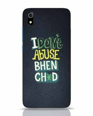 Shop I Dont Abuse Xiaomi Redmi 7A Mobile Cover-Front