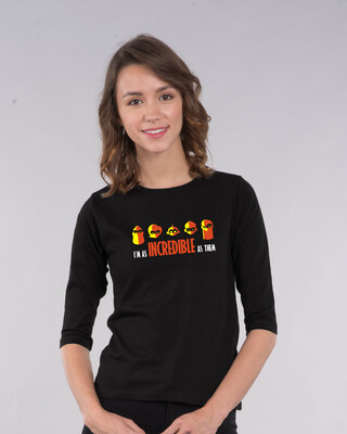 Shop I'm Incredible 3/4th Sleeve T-Shirt (DL)-Front