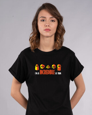 Shop I'm Incredible Boyfriend T-Shirt (DL)-Front