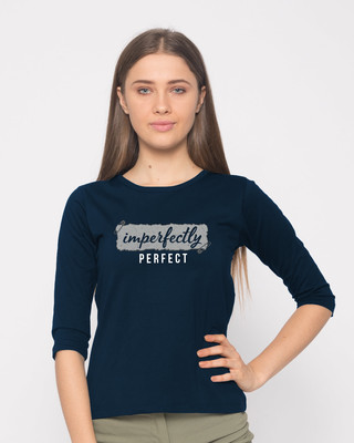 Shop I'm Perfect Round Neck 3/4th Sleeve T-Shirt-Front