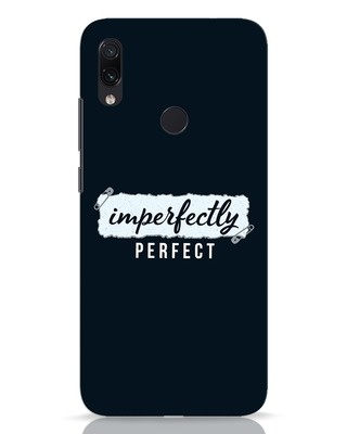 Shop I'm Perfect Xiaomi Redmi Note 7 Pro Mobile Cover-Front