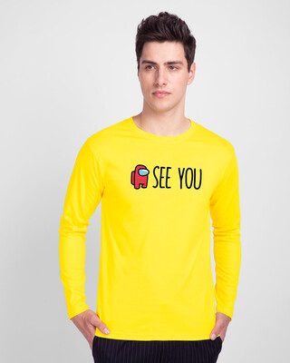 Shop I See You Full Sleeve T-Shirt Pineapple Yellow-Front