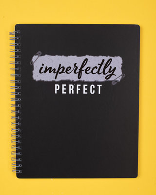 Shop Imperfectly Perfect Spiral Notebook-Front