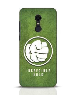 Shop Incredible Hulk Xiaomi Redmi Note 5 Mobile Cover-Front
