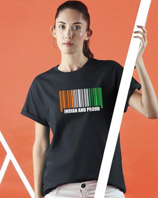 Shop Indian & Proud Women's Boyfriend T-Shirts-Front