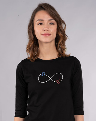 Shop Infinity Music Round Neck 3/4th Sleeve T-Shirt-Front