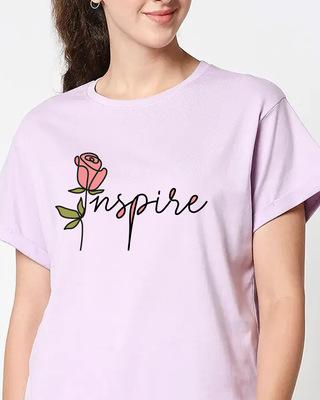 Shop Inspire Rose Boyfriend T-Shirt-Front