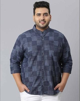 Shop Instafab Plus Men Checks Stylish Full Sleeve Casual Shirts-Front