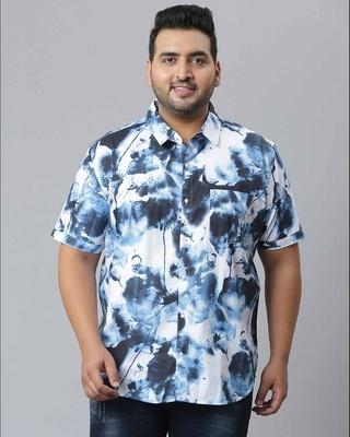 Shop Instafab Plus Men Graphic Design Stylish Half Sleeve Casual Shirts-Front