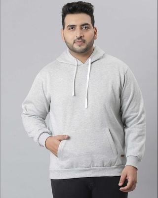 Shop Instafab Plus Men Solid Stylish Full Sleeve Hooded Casual Sweatshirts-Front