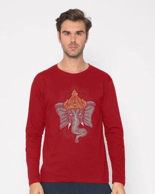 Shop Intense Ganesha Full Sleeve T-Shirt-Front