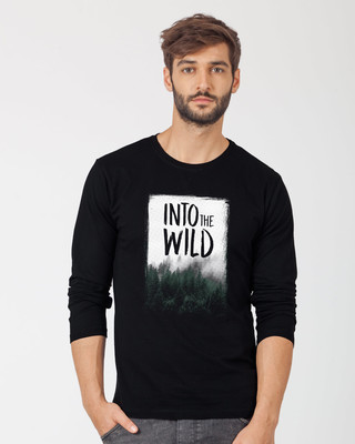 Shop Into The Wild Full Sleeve T-Shirt-Front