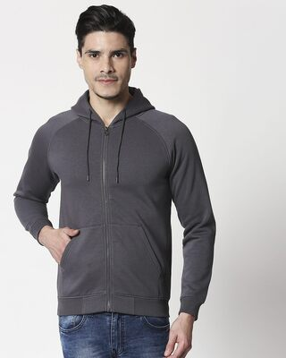 Shop Iron Gate Basic Zipper Hoodie-Front