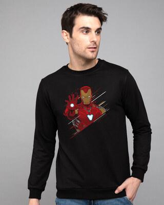 Shop Iron Man Brush Fleece Sweaters (AVEGL)-Front