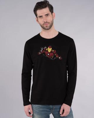 Shop Iron Man Burst Full Sleeve T-Shirt (AVL)-Front