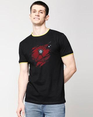 Shop Iron Man of War (AVL) Round Neck Varsity T-Shirt-Front