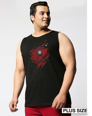 Shop Iron Man of War (AVL) Plus Size Round Neck Vest-Front