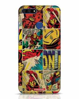 Shop Iron Man Pattern Huawei Honor 7A Mobile Cover-Front