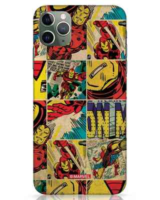 Shop Iron Man Pattern iPhone 11 Pro Max Mobile Cover-Front