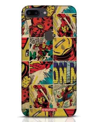 Shop Iron Man Pattern iPhone 7 Plus Logo Cut Mobile Cover-Front