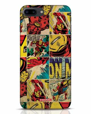 Shop Iron Man Pattern iPhone 7 Plus Mobile Cover-Front