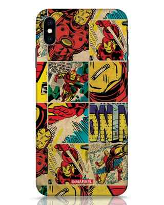 Shop Iron Man Pattern iPhone XS Max Mobile Cover-Front