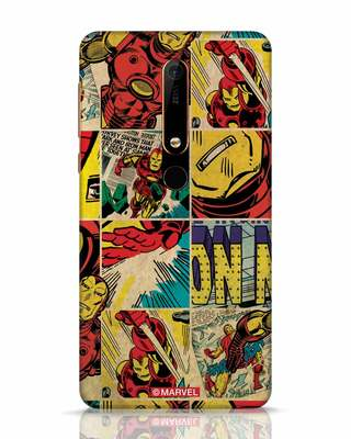 Shop Iron Man Pattern Nokia 6.1 Mobile Cover-Front