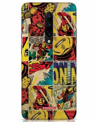 Shop Iron Man Pattern OnePlus 7 Pro Mobile Cover-Front