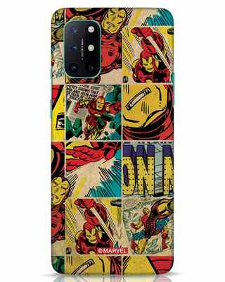Shop Iron Man Pattern OnePlus 8T Mobile Cover-Front