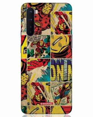 Shop Iron Man Pattern OnePlus Nord Mobile Cover-Front