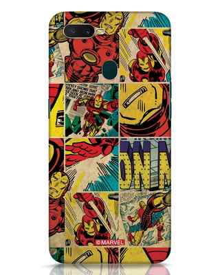 Shop Iron Man Pattern Oppo A7 Mobile Cover-Front