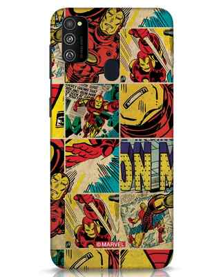 Shop Iron Man Pattern Samsung Galaxy M30s Mobile Cover-Front