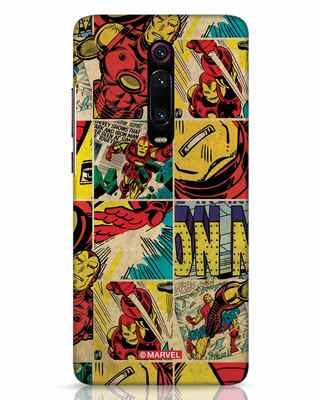 Shop Iron Man Pattern Xiaomi Redmi K20 Pro Mobile Cover-Front