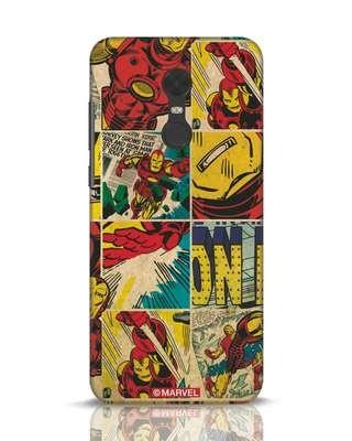 Shop Iron Man Pattern Xiaomi Redmi Note 5 Mobile Cover-Front