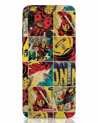 Shop Iron Man Pattern Xiaomi Redmi Note 7 Mobile Cover-Front