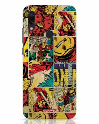 Shop Iron Man Pattern Xiaomi Redmi Note 7 Pro Mobile Cover-Front