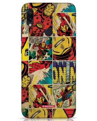 Shop Iron Man Pattern Xiaomi Redmi Note 7s Mobile Cover-Front