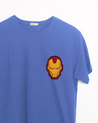 Shop Iron Man Printed Badge Half Sleeve T-Shirt (AVL)-Front