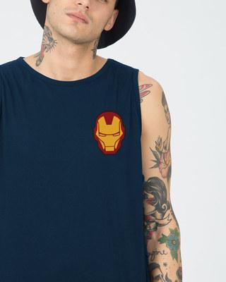 Shop Iron Man Printed Badge Vest (AVL)-Front